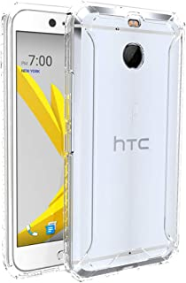 HTC Bolt Case, POETIC Affinity Series Premium Thin/No Bulk/Clear/Dual material Protective Bumper Case for HTC Bolt (2016) Clear