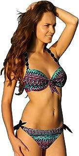Womens Removable Padded Push Up Bikini Set Tie Side Swimsuit Swimwear