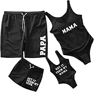 dad and son matching swimsuit