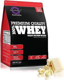 Pure Product Australia Whey Protein Isolate, 1- kilogram, White Chocolate 1 kilograms