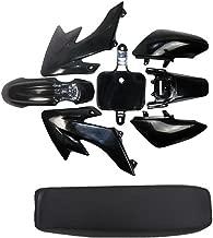 Black Fenders Plastics RF50 XR50 SSR SDG DHZ Thumpstar Dirt Pit Bike With Seat (Seat Black)