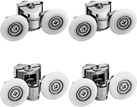LESOLEIL Douchedeur Rollers - Douchedeur Runners Fixing Pulleys Top Bottom Bathroom Replacement Parts Nylon Zink Alloy 4pc...
