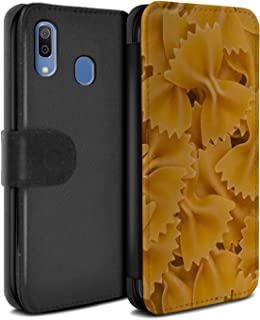 eSwish PU Leather Wallet Flip Case/Cover for Samsung Galaxy A20e 2019 / Farfalle Pasta Design/Food Collection