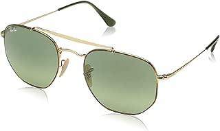 RB3648 The Marshal Square Sunglasses, Havana/Green Gradient, 54 mm