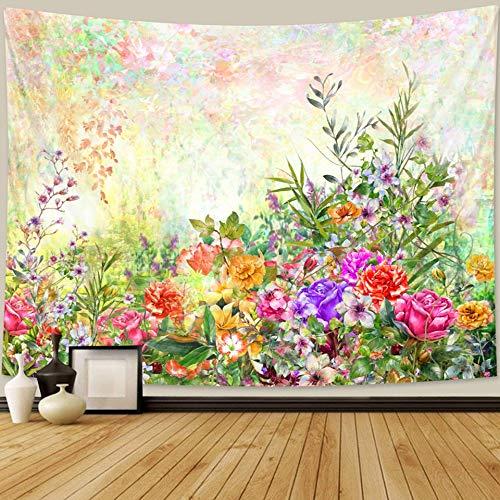 PPOU Hermosa Planta Tapiz Floral Colgante de Pared decoración del hogar Bohemio Hippie psicodélico Manta Tela Colgante A1 73x95 cm