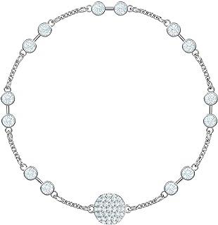 SWAROVSKI Remix Collection Carrier Rhodium-Plated White Crystal Strand, Size Medium