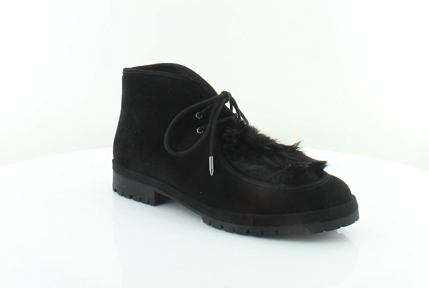Avec Les Filles Womens Demi Too Suede Round Toe Booties