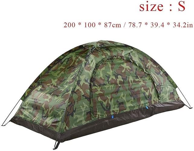 HAOYUNQI 1.2KG 2 Personne Tente Ultralumière monocouche résistance à l'eau Tente de Camping PU1000mm avec Sac de Transport for la randonnée voyageant