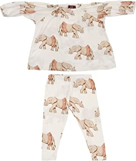 Infant and Toddler Bamboo Dress and Legging Set - Tutu Elephant