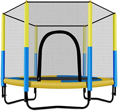 übungs-Trampolin Gartentrampoline Mini-Trampolin, Kinderunterhaltungs-Sprungbett Outdoor-Kindertrampolin Heimtrainings Indoor-Kinderwachsener mit Schutznetz-Trampolin, ca. 150 kg tragend Trampoline