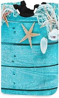 ZOMOY Grand Organiser Paniers pour Vêtements Stockage,Bordure Automatique avec Filet de pêche Coquillages et étoiles de me...