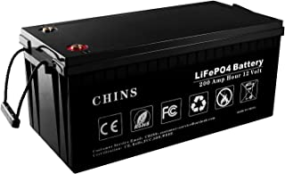 12V 200Ah LiFePO4 Deep Cycle Battery, Built-in 100A BMS, 2000-5000 Cycles, 200amp Max, Perfect for RV, Solar, Marine, Overland, Off-Grid