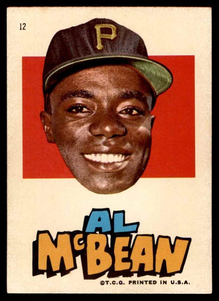 1967 supreme Topps # 12 Al McBean Pirates Pittsburgh Baseball Card Nashville-Davidson Mall NM
