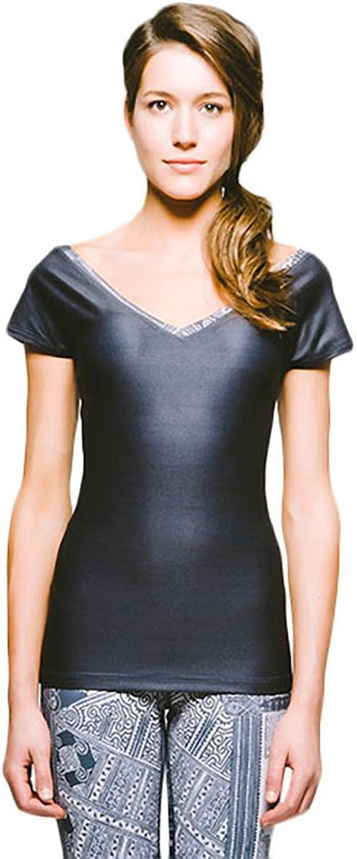 Joriki Women's OffTheShoulder Short Sleeve Casual Workout Top  5 colors  Deep Vneck Body Shaping Performance Shirts Tops