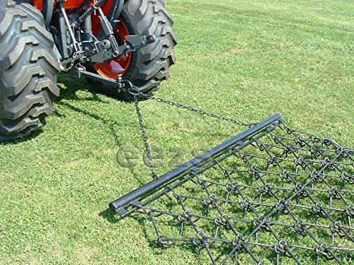 """Neat Attachments 6'4"""" x 3' Multi Action Drag Chain Harrow - Overall 6' Long - 1/2"""" Dia"""