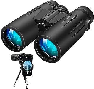 comprar comparacion Binoculares, 12x42 Prismaticos Profesionales con trípode y adaptador para teléfono inteligente para observación de aves, s...
