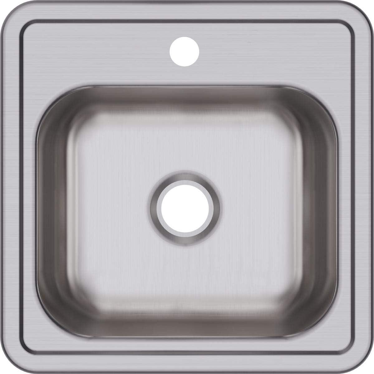 Dayton D115152 Single Bowl Top Mount Stainless Steel Bar Sink
