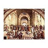 Kunstdruck Poster - Raffael Die Schule von Athen 80x60cm