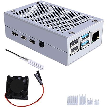 Geeekpi Metall Gehäuse Für Raspberry Pi 4 Modell B Elektronik