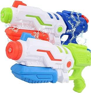 Liberty Imports Max Burst Super Water Gun High Capacity 600ml Power Soaker Blaster - Kids Toy Swimming Pool Beach Sand Water Fighting (2 Pack)
