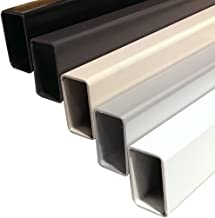 Aluminum Post to Post Inline Hand Rail or Support for Custom Wood Top Rail on Cable Railing Deck (6 Feet, Black)