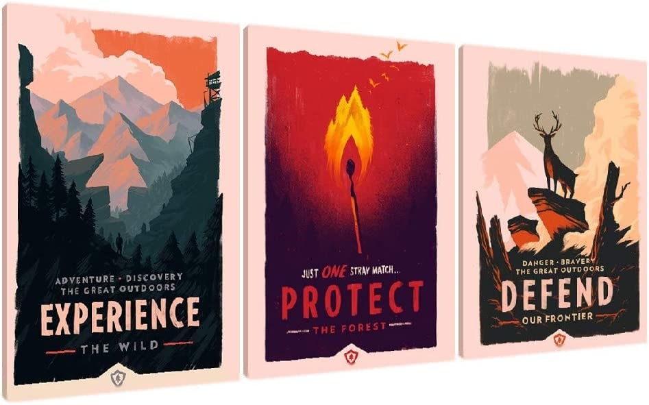 67% OFF of fixed Max 88% OFF price MSCHENZW Firewatch Game Poster Art Pictures Wall for Prints
