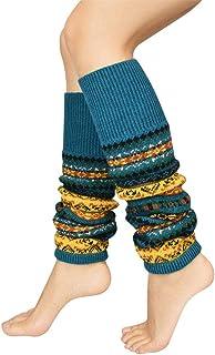 UMIPUBO, Calentadores piernas mujer Calcetines del Invierno del cordón de la torcedura Hecha Punto de Arranque Calentadores de Calcetines