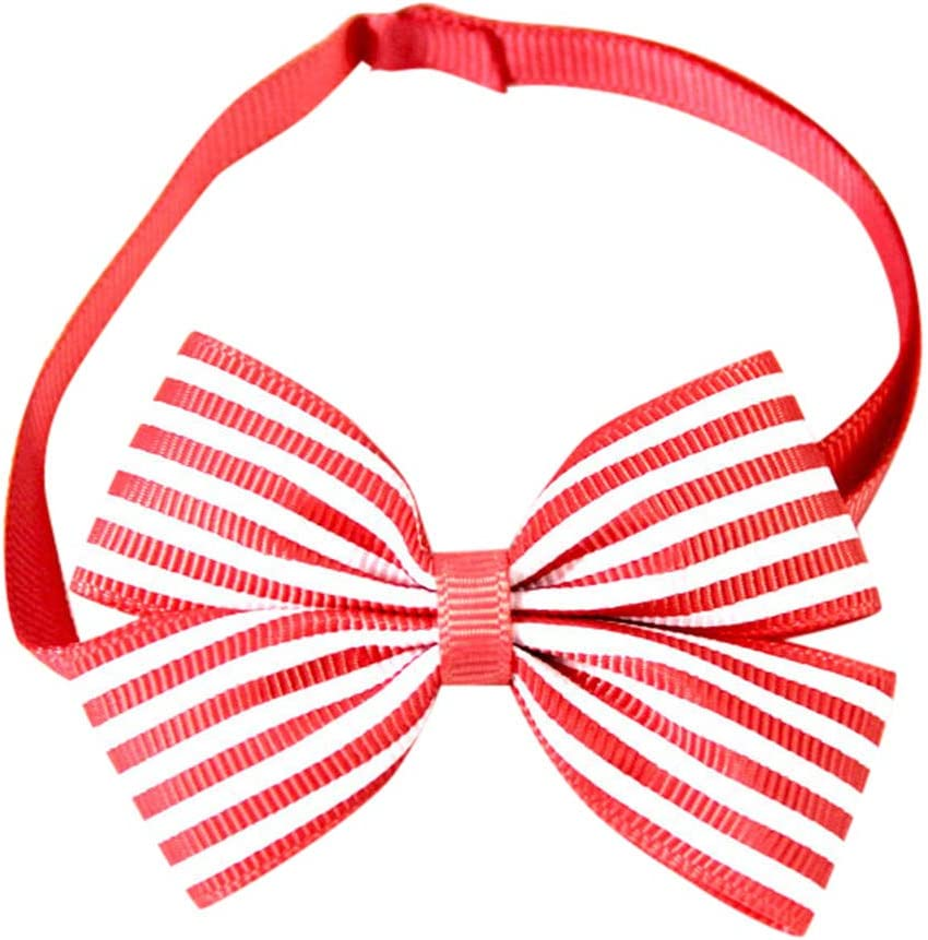 Basic Pet Collar Low Spring new work price Adjustable Striped Simple Tie Classic Bow Neckl