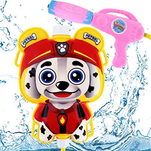 Miotlsy Wasserpistole Kinder Spielzeug Spritz-Pistole Paw Patrol Dog Rucksack Rücken-Tank Strand KinderSpielzeug im Sommer