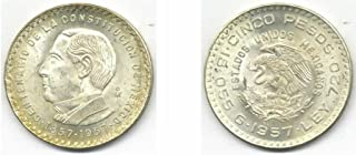 Mexico 1957 5 Pesos, 100th Anniversary of Constitution, KM-470