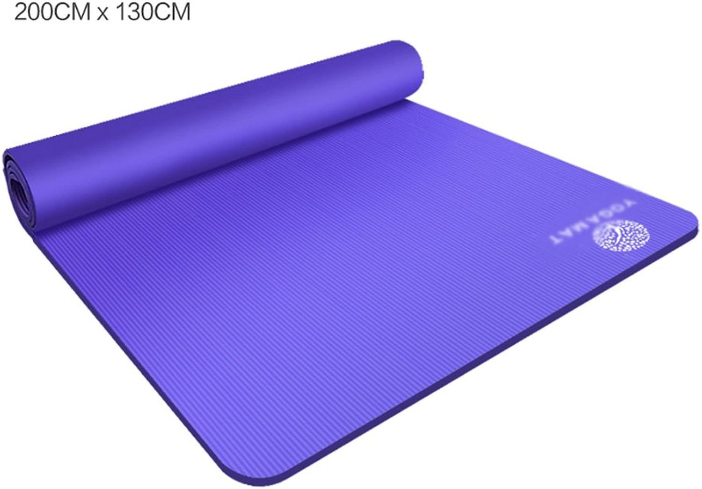 Brilliant firm Yogamatten-übungsmatte Vielzweckpilates-Matte krperliche kampierende Turnhalle (Farbe   Blau, Größe   1.5cm)