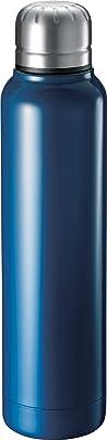 ゴーウェル マグボトル スティック のっぽ スリム 直飲み サーモ ステンレスボトル 真空断熱 保温 保冷 水筒 350ml ネイビー TS-1239-006