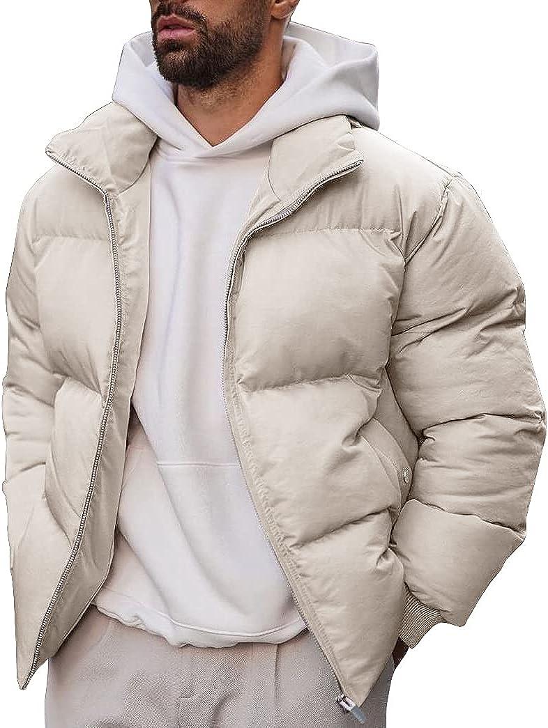 Men's Lightweight Down Puffer Jacket Winter Breathable Warm Causal Parka Coat Outdoor
