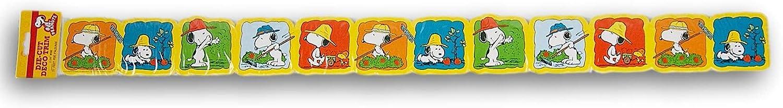 Peanuts Snoopy Wall Border Trim - Springtime Gardening Classroom Decor - 37 Feet Of Border Total