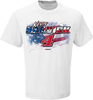 Checkered Flag Kevin Harvick Patriotic Red, White and Blue #4 NASCAR T-Shirt