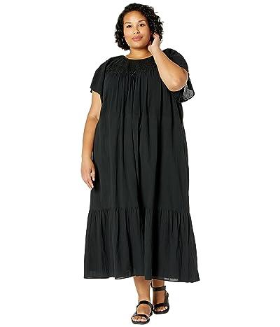 Madewell Plus Embroidered Smocked Midi Dress