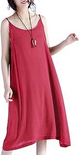 JEL Women Casual Loose Summer Slip Dresses Beach Cover up Plain Night Sleep Dress XS-5X JEL