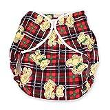 Rearz - Omutsu Bulky Fitted Nighttime Cloth Diaper (Plaid - Teddy) (Medium/Large)