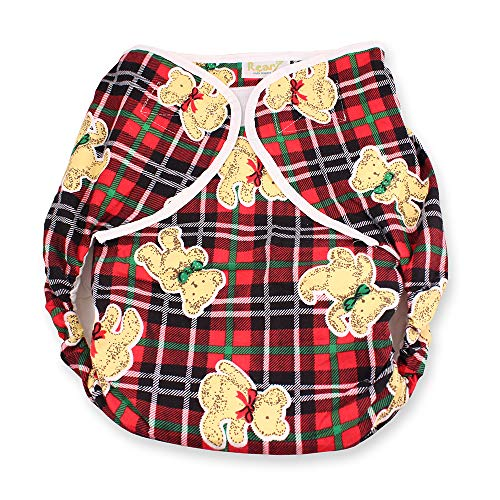 Rearz - Omutsu Bulky Fitted Nighttime Cloth Diaper (Plaid - Teddy) (Large/X-Large)