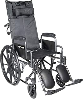 Chrome Sport Reclining Wheelchair with Detachable Desk Length Arms and Elevating Leg rest 18