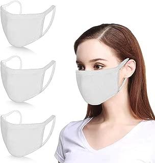 Pack 6pcs Black Cotton Face Shields Faces-Masks Bandanas Balaclavas for Dust Wind Sun Protection Sports Outdoors Festivals