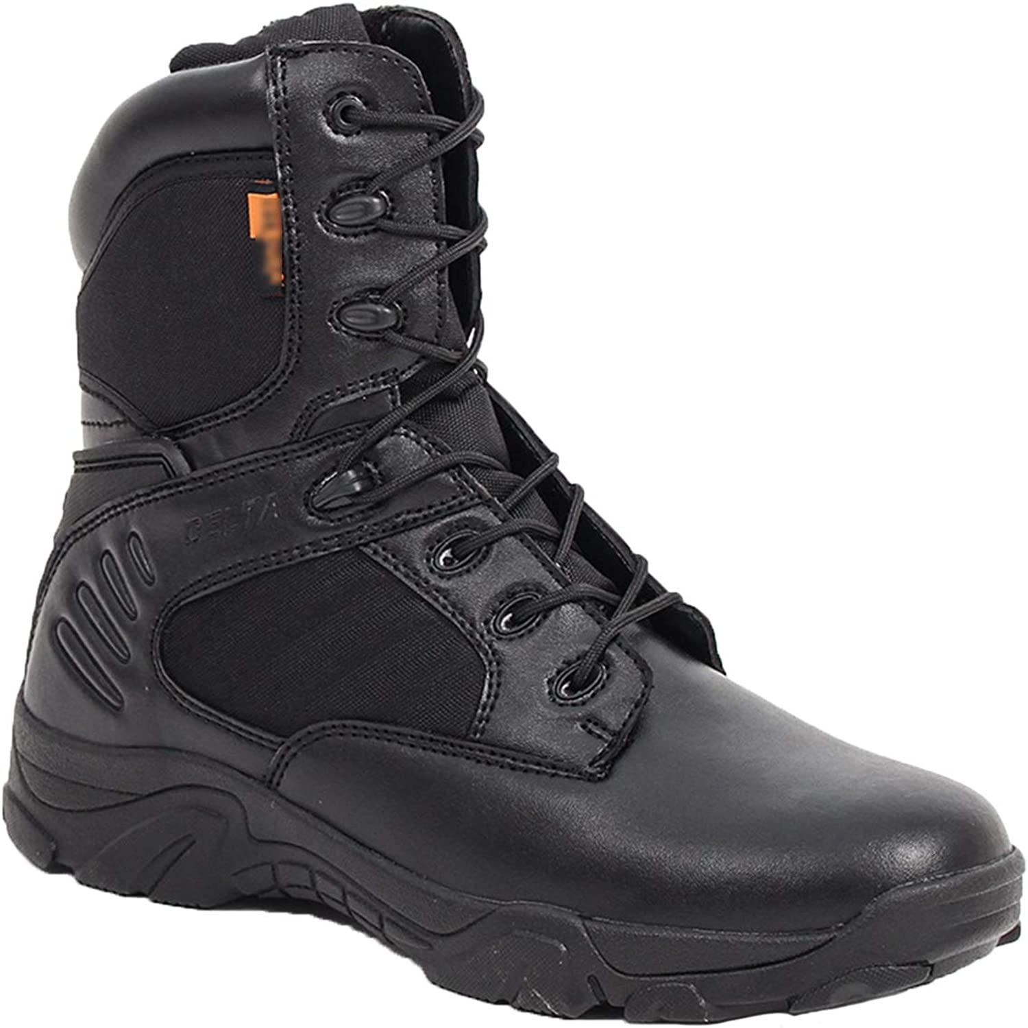 Combat Boots G-3 Leather Side Zip Army Tactical Boots Delta Military Work Army shoes Safety Ankle Boots Breathable Commando Outdoor Desert Tactical Military Patrol Boots