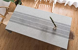 Table Cloth Cotton Linen Wrinkle Free Anti-Fading Tablecloths Embroidery Tassel Cotton And Linen Gray Tassel Embroidered Tablecloth Tablecloth Table Cloth S 140×140cm