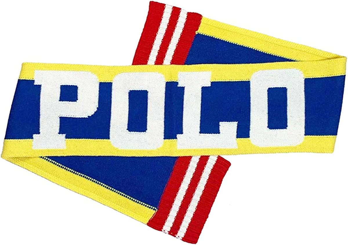 Polo RL Over sized Colorful Striped Scarf