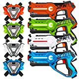 Best Choice Products Set of 4 Infrared Laser Tag Blaster & Vests for Kids & Adults w/ Synced Blasters & Vests