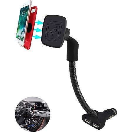Kfz Handyhalterung Magnet 2 In 1 Handy Halterung Auto Mit 3 4a 2 Usb Ladegerät Für