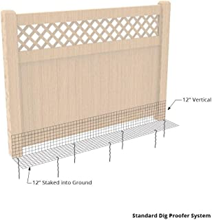Dig Proofer Kit for Preventing Digging Under Fence - 24