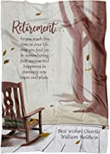 Retirement Blanket for Women & Men. Personalized Retired Blanket with Any Name & 1 Line Message. Embrace The Future Personalized Retirement Throw. Gift for New Retiree,Grandparents (50