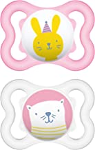 MAM Sensitive Skin Pacifiers, Baby Pacifier 0-6 Months, Best Pacifier for Breastfed Babies, Mini Air Design Collection, Girl, 2-Count