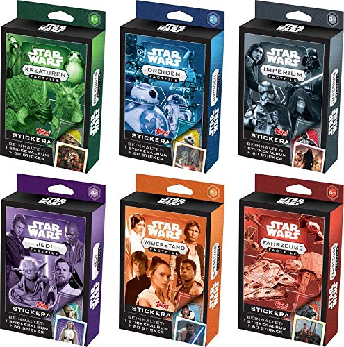 Topps Deutschland GmbH Star Wars Fact File Stickers 2020 6er Pack